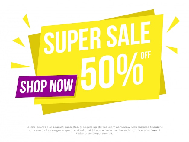 Super sale text banner