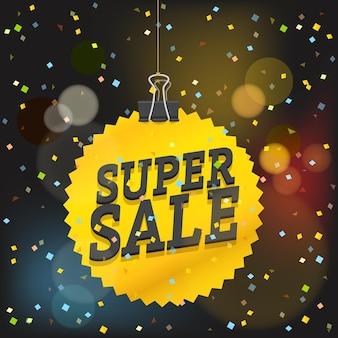 Super sale-vektor-konzept. shopping-verkauf-luxus-logo
