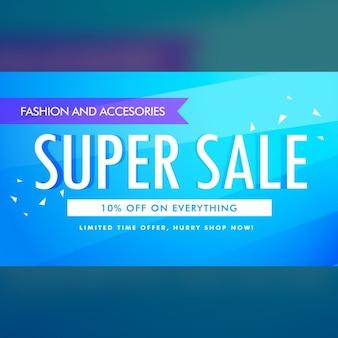 Super sale werbe banner template-design
