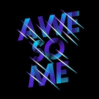 Super schriftzug mit neoneffekt