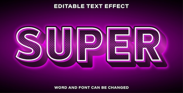 Super style texteffekt