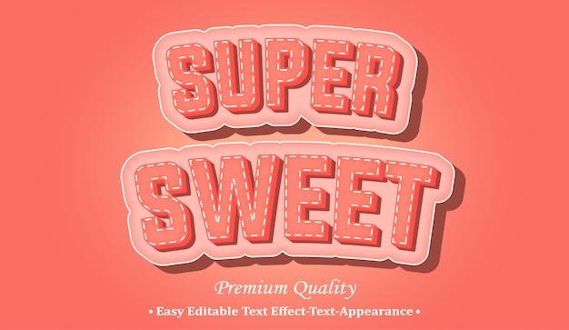 Super süßer 3d-schriftstil-effekt