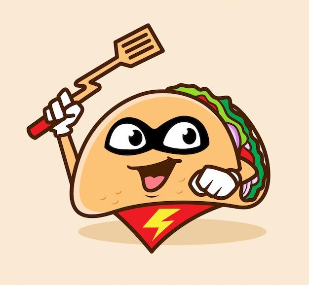 Super taco maskottchen