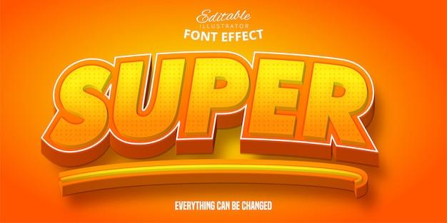 Super text, 3d bearbeitbarer schrifteffekt