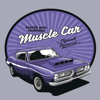Super vintage muscle car