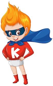 Superboy oder superhelden-cartoon-charakter-aufkleber