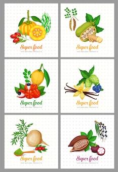 Superfood-symbole eingestellt.