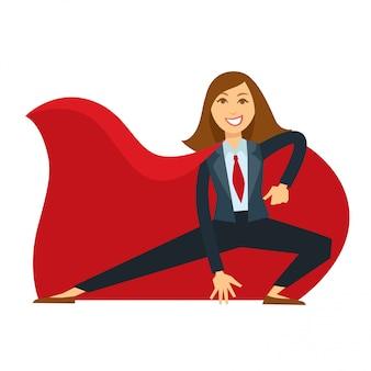 Superfrau mit umhang