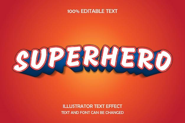 Superheld, bearbeitbarer texteffekt im modernen comic-stil