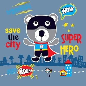 Superheld cartoon kunst