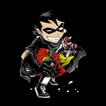 Superheld der zeichentrickfigur