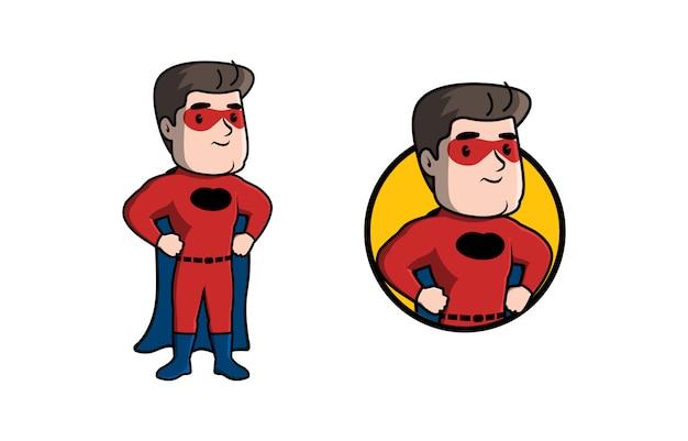 Superheld maskottchen logo