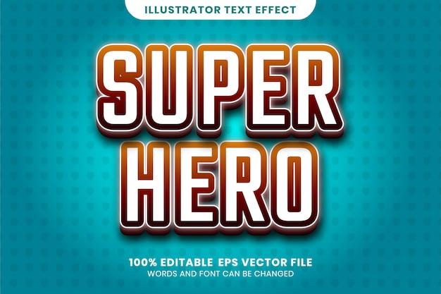 Superheld-texteffekt