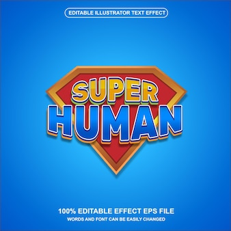 Superheld-texteffektvektor