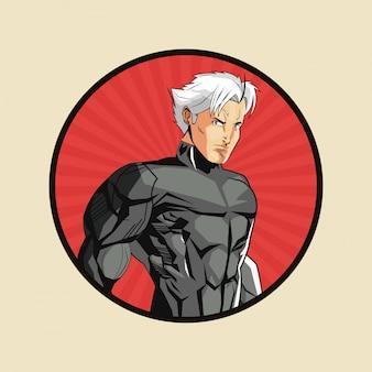 Superhelden-mann-cartoon