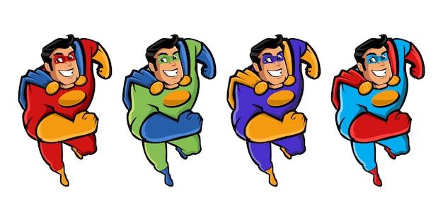 Superhelden-maskottchen-charakter