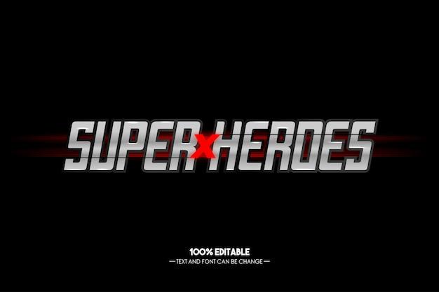 Superhelden metal text style editierbar