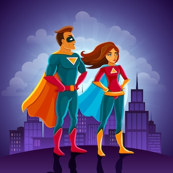 Superhelden-paar