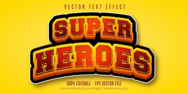 Superhelden-text, bearbeitbarer texteffekt im cartoon-stil