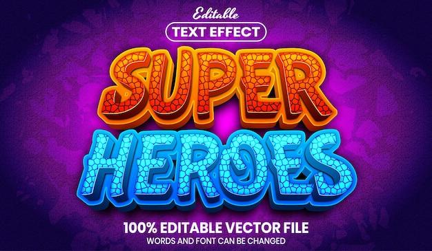 Superhelden-text, bearbeitbarer texteffekt im schriftstil