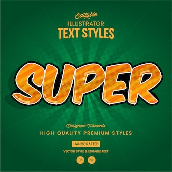 Superhelden-textstil