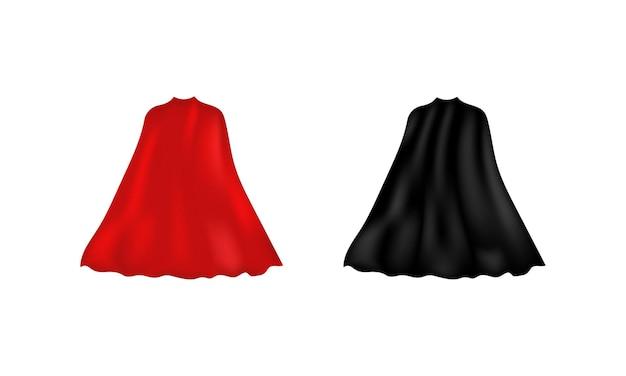 Superhelden-umhang-symbol. vektor auf weißem hintergrund isoliert. eps 10.