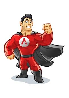 Superhelden-versorgungs-maskottchen-entwurf