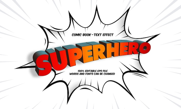 Superhero text efect