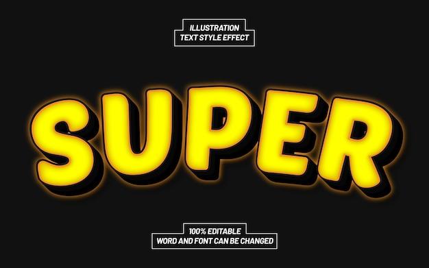 Superleichter textstil-effekt