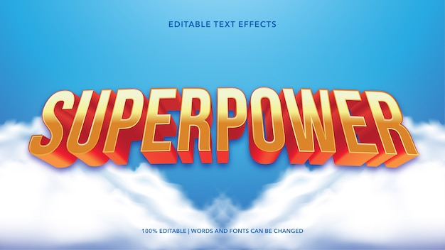 Supermacht-texteffekte
