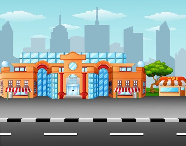Supermarkt am straßenrand