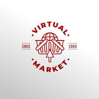 Supermarkt-logo-konzept