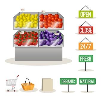 Supermarkt obst gemüse