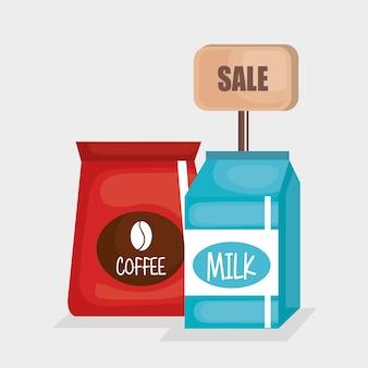 Supermarkt-set-produkte-symbol