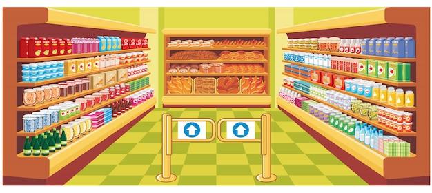 Supermarkt. vektor