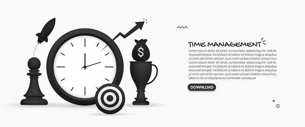 Superproduktive routinen mit zeitmanagement, täglicher und langfristiger planung