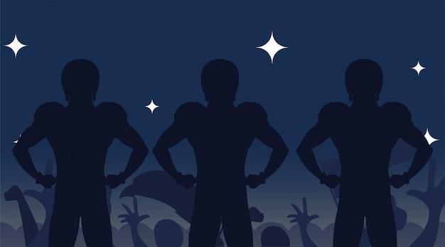 Superschüsselspieler silhouettiert illustration
