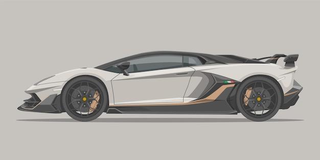 Supersportwagen mit seitenansicht
