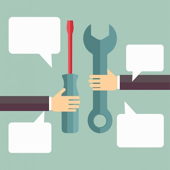 Support-Service-Konzept