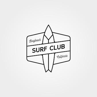 Surf club minimalistisches logokonzept