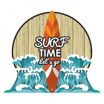 Surf-zeit-cartoon