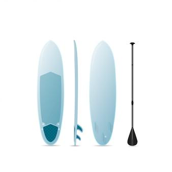 Surfbrett mit drei seiten.