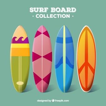 Surfbrett sammlung im modernen stil