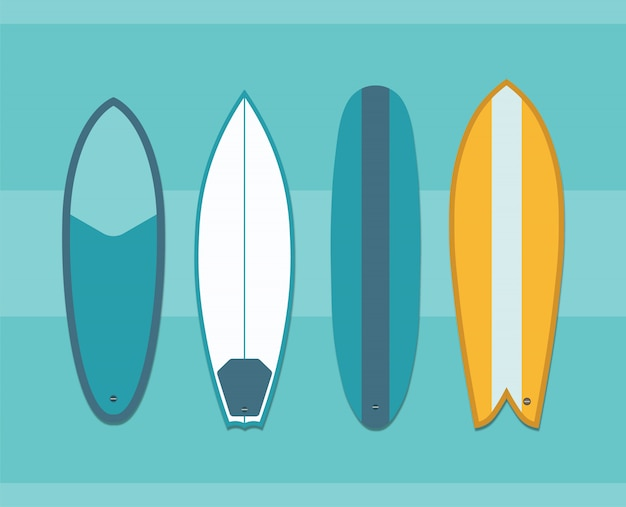 Surfbrett-sammlung