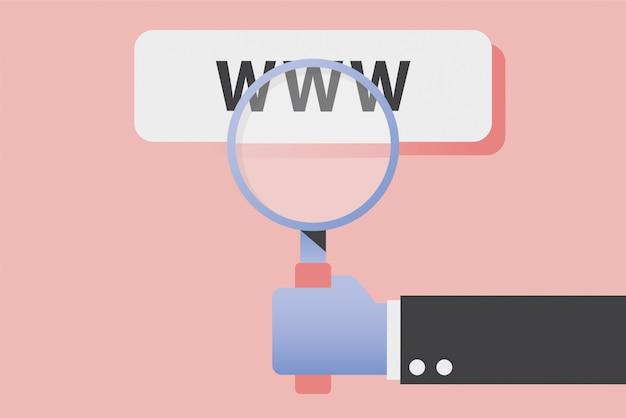 Surfen im internet.