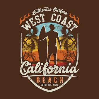 Surfen themen, west coast beach, california beach,
