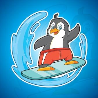 Surfender pinguin