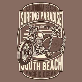 Surfendes motorrad