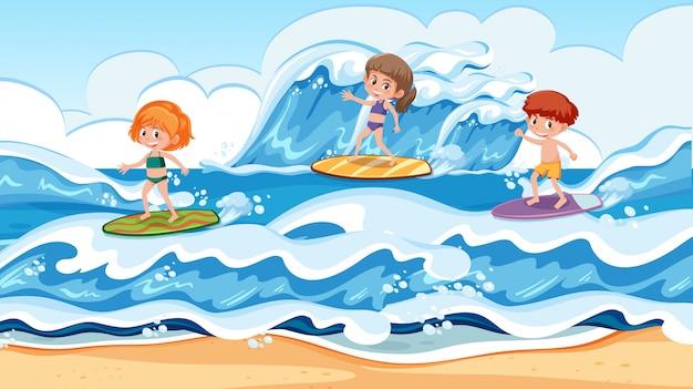 Surfer im surfurlaub