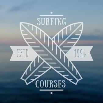 Surfkurs emblem, logo.